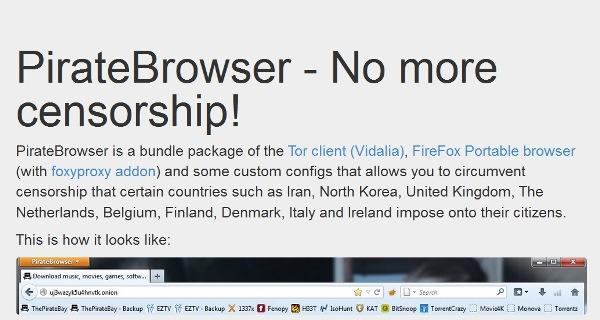 Выпущен PirateBrowser для борьбы с цензурой