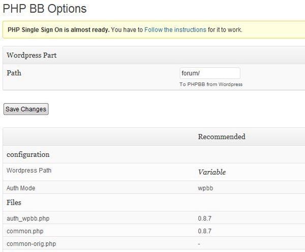 Плагин PHPBB Single Sign On для WordPress